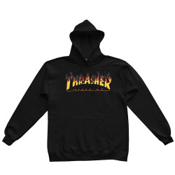 THRASHER Sweat BBQ Hood Black