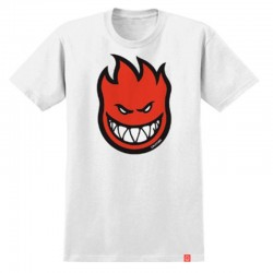 SPITFIRE Tshirt SS Youth Bighead Fill White/Red