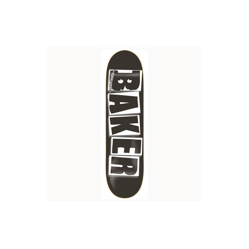 """BAKER Brand Logo Black White 8.125"""" Deck"""