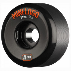 MINI LOGO A-Cut 51mm Black Wheels x4
