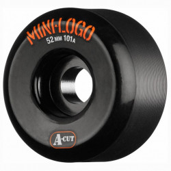 MINI LOGO A-Cut 52mm Black Wheels x4