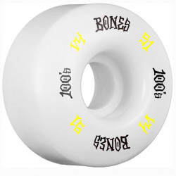 BONES 100's V4 51mm White Wheels x4