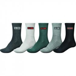 Chaussettes GLOBE Hilite Crew socks x5
