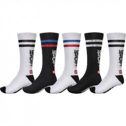 GLOBE Lets Get It Crew socks x5
