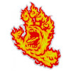 "Autocollant SANTA CRUZ Flame Hand 6"""