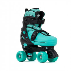 SFR Rollerskates Nebula ajustables Black/Light Blue