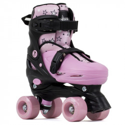 SFR Rollerskates Nebula adjustables Black/Pink
