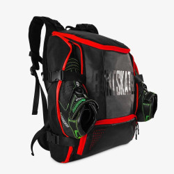 BONT Skate Backpack Bag Black/Red