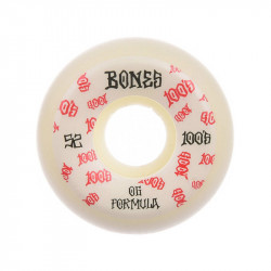 BONES 100's V5 52mm White Wheels x4