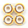 PROHIBITION Mosaic Yellow Orange Black Wheels x4