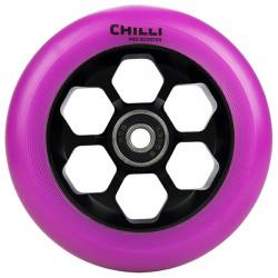 CHILLI Honeycomb Purple 110mm Wheels x2