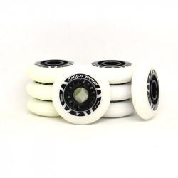 ROLLERBLADE 80mm Supreme Black White Wheels x8