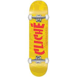 "CLICHé Skateboard Banco Yellow 7.5"""