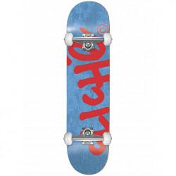 "CLICHé Skateboard Handwritten Blue/Red 7.375"""