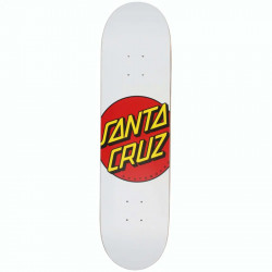 "SANTA CRUZ Classic Dot White Matte Deck 8"""