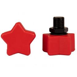ROOKIE Toestop Star Adjustable Red x2