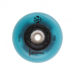 Luminous 72mm Blue Glow Wheels x4