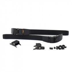 SLICK HARDWARE Aluminium Buckles Black x2
