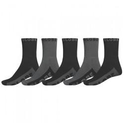 Chaussettes GLOBE Crew Socks Black/Grey x5