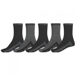 GLOBE Crew Socks Black/Grey x5