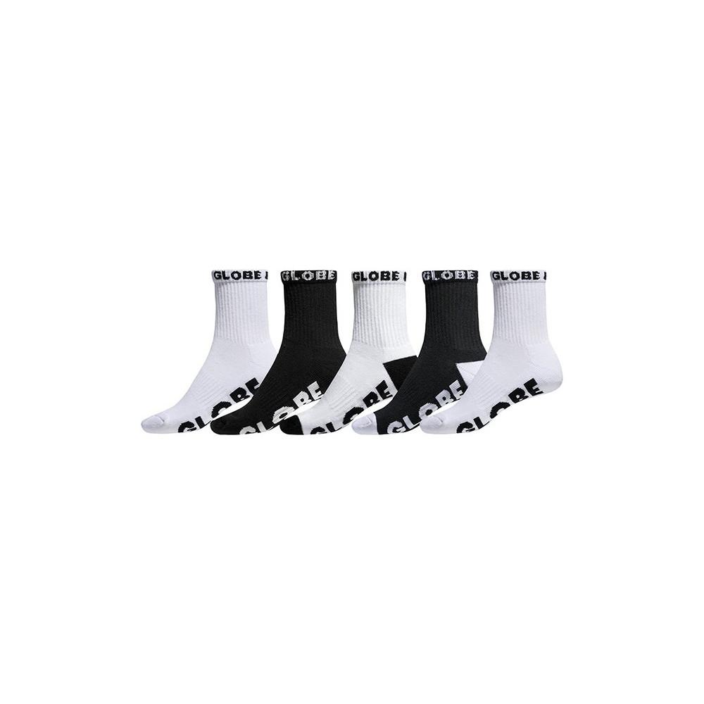 Chaussettes GLOBE Boys Socks Black/White x5