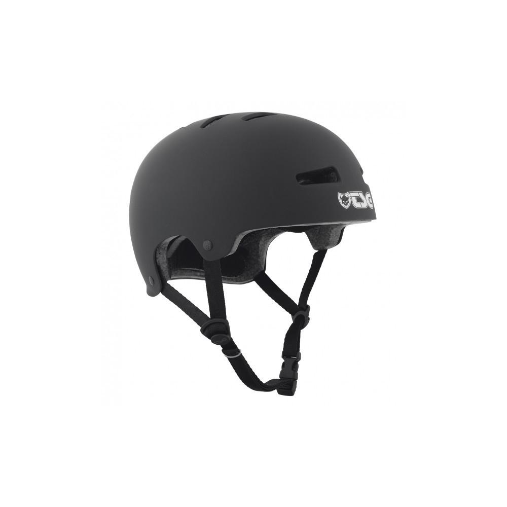 TSG Evolution Solid Black Satin Helmet