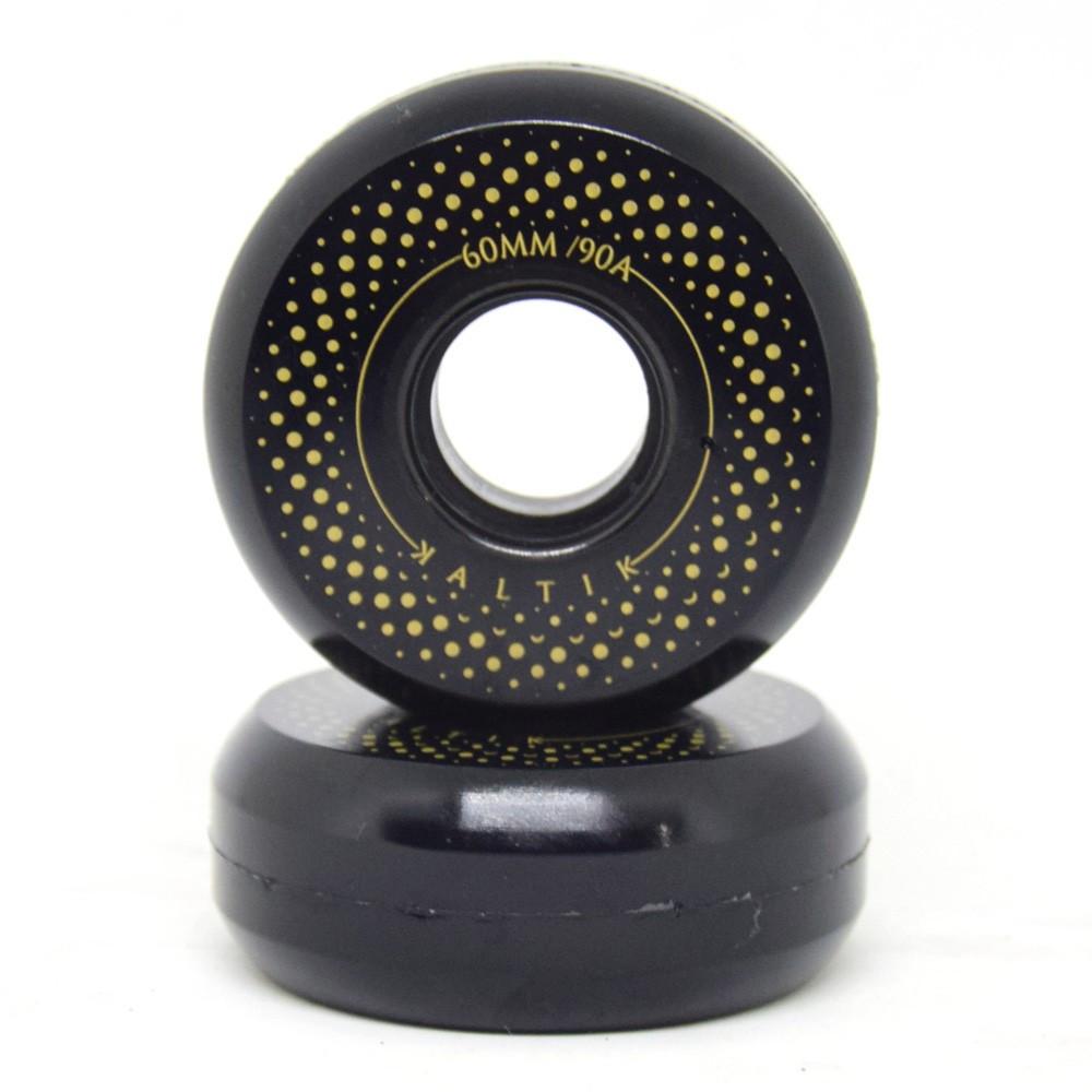 KALTIK Black Spinners Wheels x4