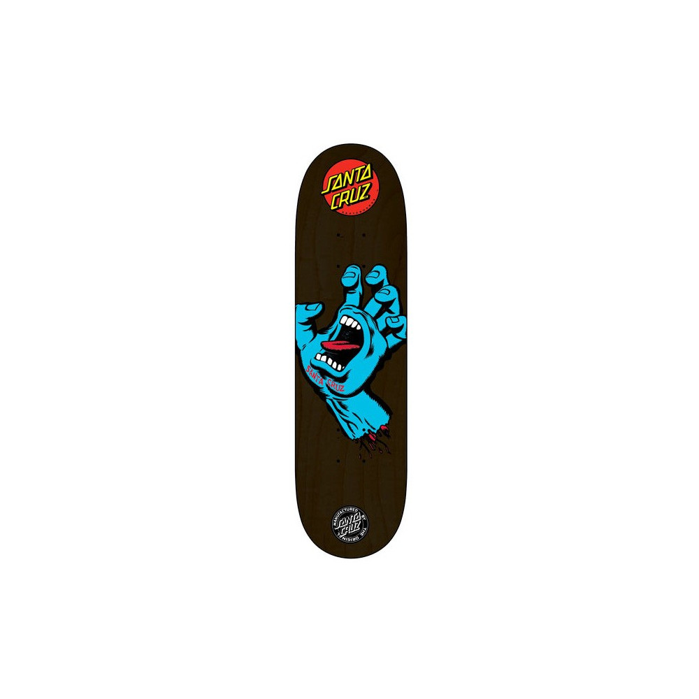 "SANTA CRUZ Screaming Hand Blue 8.125"" Deck"