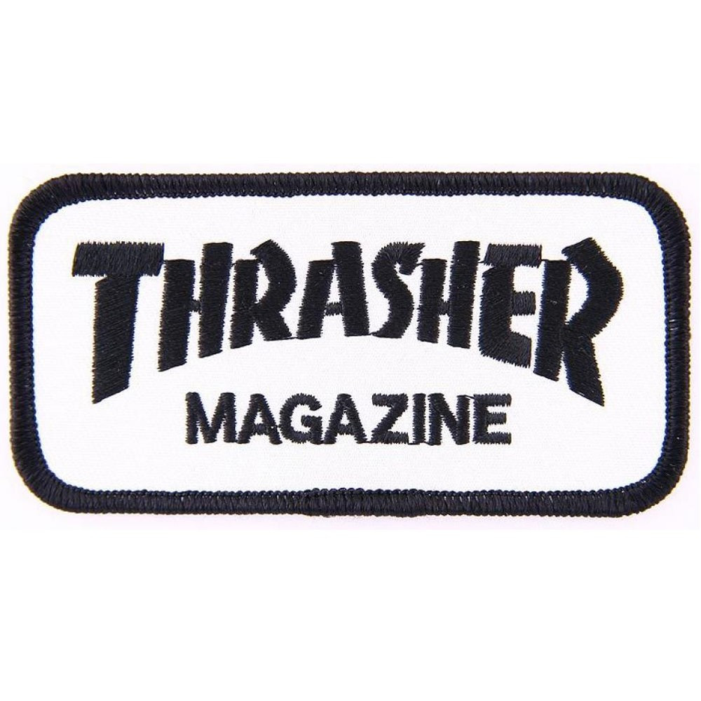 THRASHER Patch SK8 Goat White Black