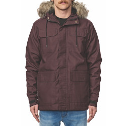 GLOBE Goodstock Thermal Parka Jacket Wine
