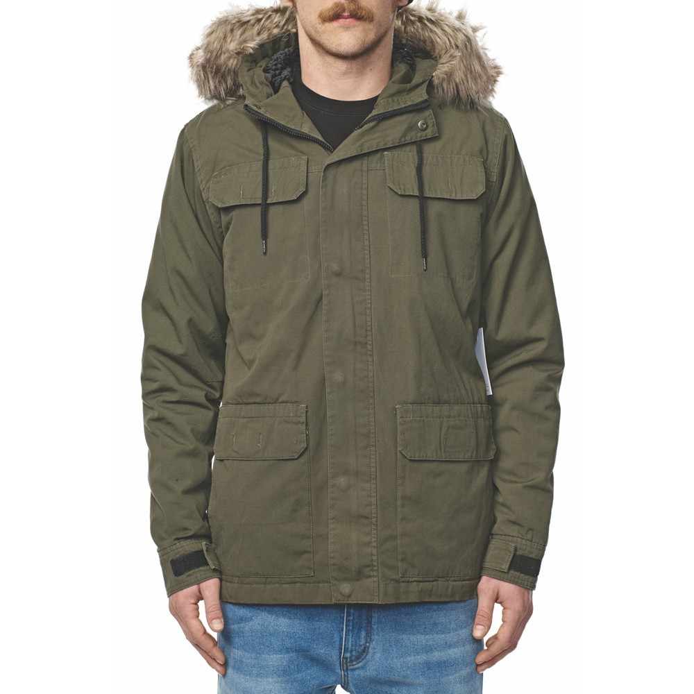 GLOBE Goodstock Thermal Parka Jacket Dusty Olive