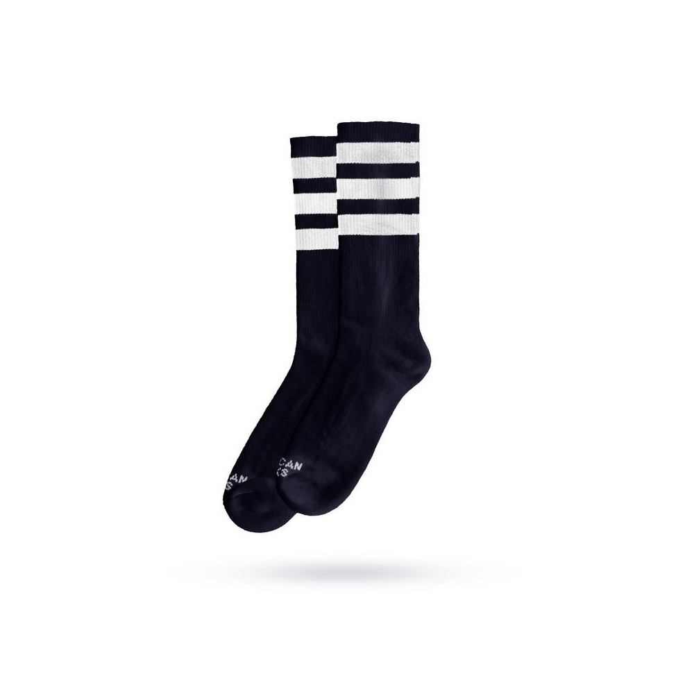 Chaussettes AMERICAN SOCKS Mid High Black in Black 2