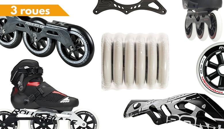 Rollers et pièces détachées 3 roues disponibles chez Clic-n-Roll