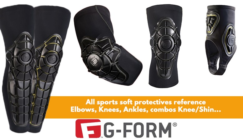 G-form soft protectives for multi sports are available online at www.clic-n-roll.com