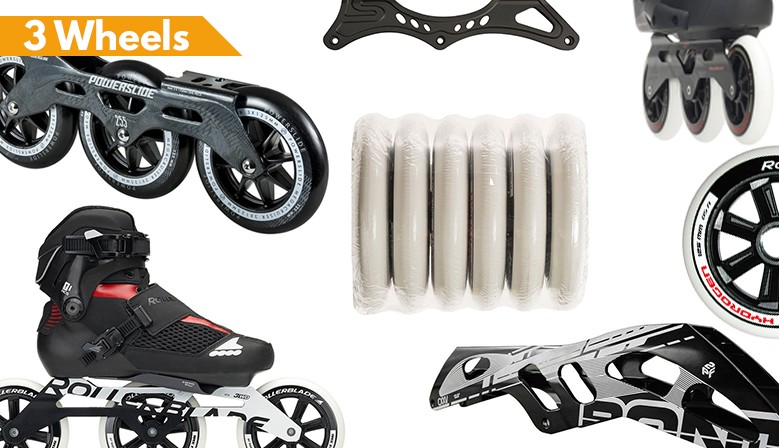 3 Wheels skates and parts available at clic-n-roll.com