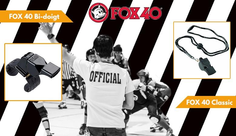 Sifflets FOX 40, la référence pour les arbitres roller derby et hockey maintenant disponible chez clic-n-roll, le rollershop Français préféré des riders!