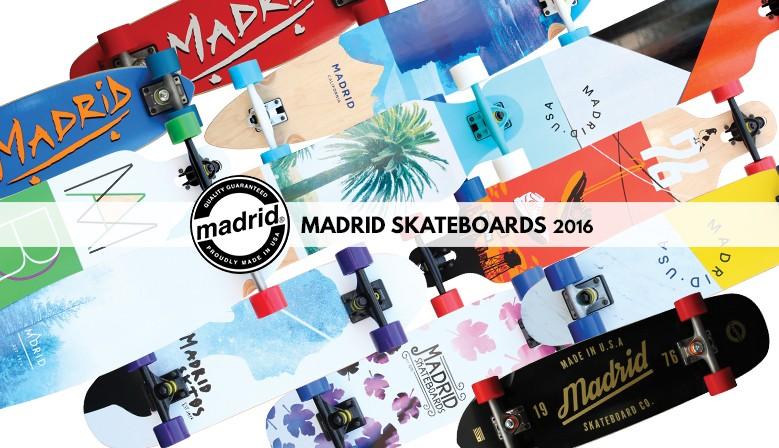 MADRID SKATEBOARDS 2016, nouvelle collection de longboards et cruisers disponible chez Clic-n-Roll