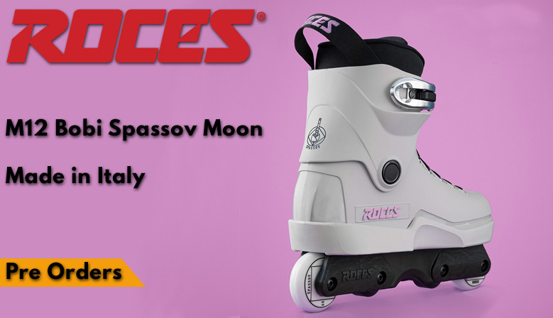 Freestyle inline skates ROCES Bobi Spassov available from clicnroll inline skates shop in France