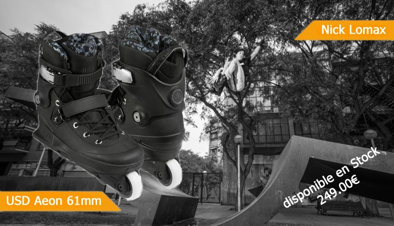 Roller USD Aeon Nick Lomax 61mm disponible chez Clic-n-Roll