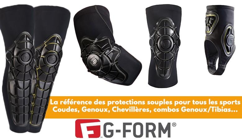Les protections souples multi sports G-Form sont disponibles chez Clic-n-Roll