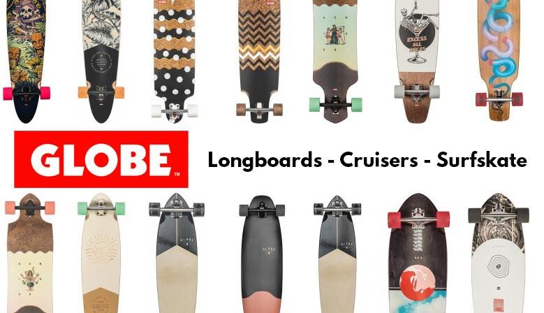 Longboards, Surfskates et Cruisers GLOBE disponibles chez Clic-n-Roll, magasin de skate Français, livraison offerte dès 70€