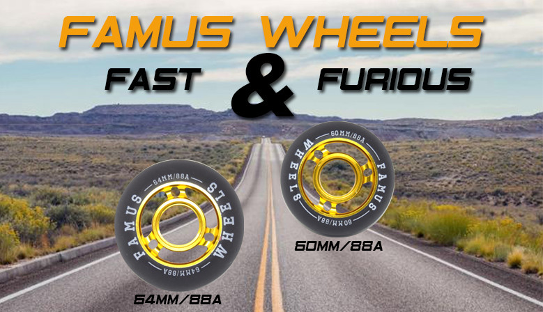 Roues de roller freestyle FAMUS WHEELS Fast and Furious disponibles au magasin de roller clicnroll à Nîmes, France