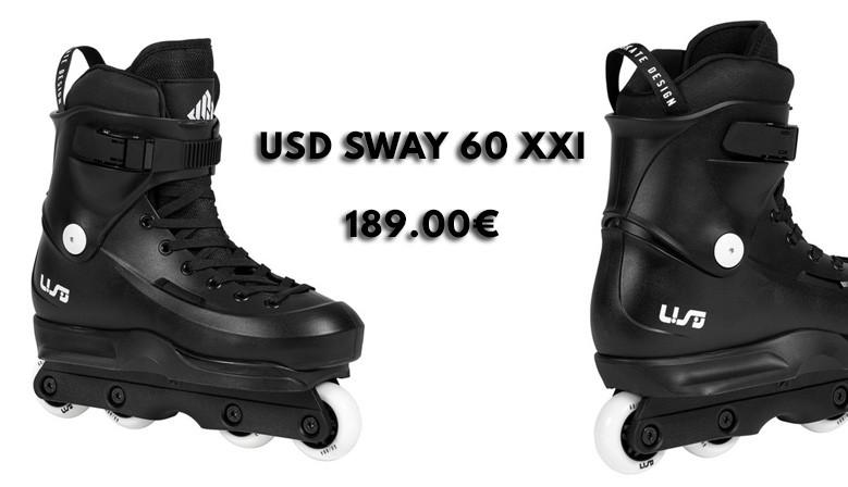 Rollers USD Sway 60 XXI disponibles chez clicnroll, magasin de roller en France