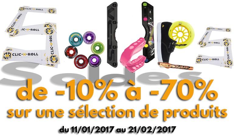 Soldes d'hiver 2017 roller, quad, skate, longboard... de -10% à -60% sur une sélection de produits!